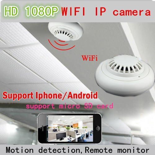 wholesale cctv ip hidden camera wifi wireless smoke detector p2p remote view with internet. Black Bedroom Furniture Sets. Home Design Ideas