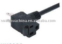 power cord with piggyback plug