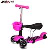 2015 new design 3 in 1 3 wheels kids scooter with EN71