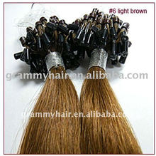 buy direct from china manufacture kinky curl micro ring/loop human remy hair extensions