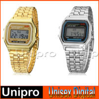 2014 new Unisex Multi-Function Square LCD Dial Alloy Watchband Digital smart Watch