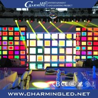 Video Wall Advertising Signs Portable Slim LED Curtain