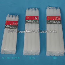 stick candle,daily use candle,white candle