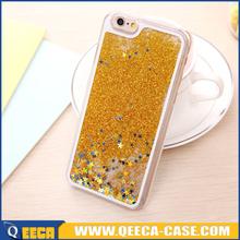 Hot sale transparent liquid phone case for iphone 6s glitter case