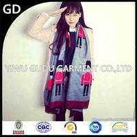 Europe and the UK guard soldiers double-sided imitation wool, acrylic scarf, and south Korean version of women scarves shawls