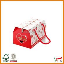 Free Sample Custom Recyclable Gift Boxes with PP rope for food