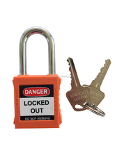 38mm shackle nylon lock body master keys safety padlock