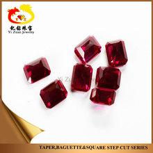 Large Quantity Synthetic Ruby Rectangle Cut Corner Corundum Step cut Rough Gemstones