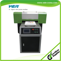 cheap A1 WER EP7880T digital printer for for any color fabric t-shirt printers directly printing machine,dtg printers a1size