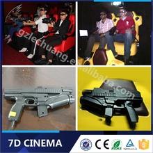 2015 Hot Sell 7D Cinema Six Rider Interactive Gun Shooting 7D Cinema