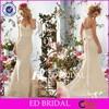 CE393 Sheath Halter Sweetheart Floor Length Sash Mermaid Country Wedding Dresses
