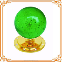 colorful glass ball drawer decoration knobs