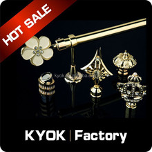 KYOK new design wrought iron curtain rods wholesale , high quality home decorations popular clear curtain rod