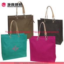 Beautiful colorful elegant jute bag for ladies