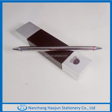 Square shape , black and silver pen gift set