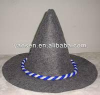polyester felt Traditional bavarian german felt hat for Oktoberfest Carnival beer festival