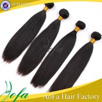 Pure 100% raw unprocessed virgin peruvian double drawn hair extensions