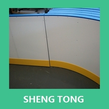 chemical and oil resistant composite ice rink fence barrier board, uhmwpe hockey court rail sheet