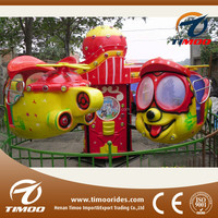 Rotating mechanical kids play park games big eye plane/ outdoor games for kids