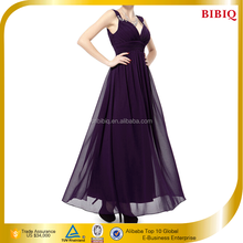 Latest Beaded Sleeveless Pleated Purple Fashion Evening Dress Designs Alibaba China