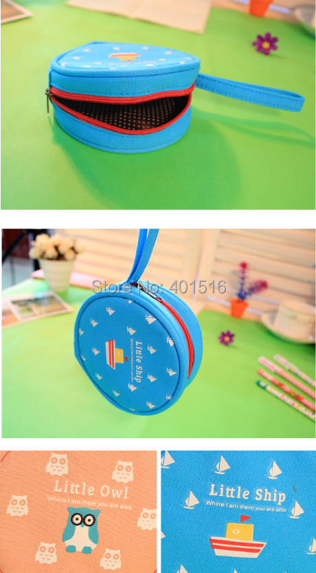 2014 New Korea Style Cute Happy Family Circle Coins Purse Casual