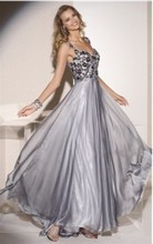 Backless princess straps floor length chiffon hot prom dresses 2016