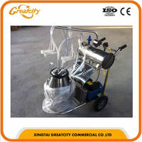 electric Automatic vacuum single double portable cow milking machine price in India for sale