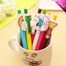 Cartoon shape plastic ballpoint pen for students and kids