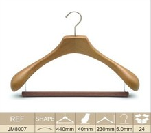 wholesale new products wooden hanger with u notches for top