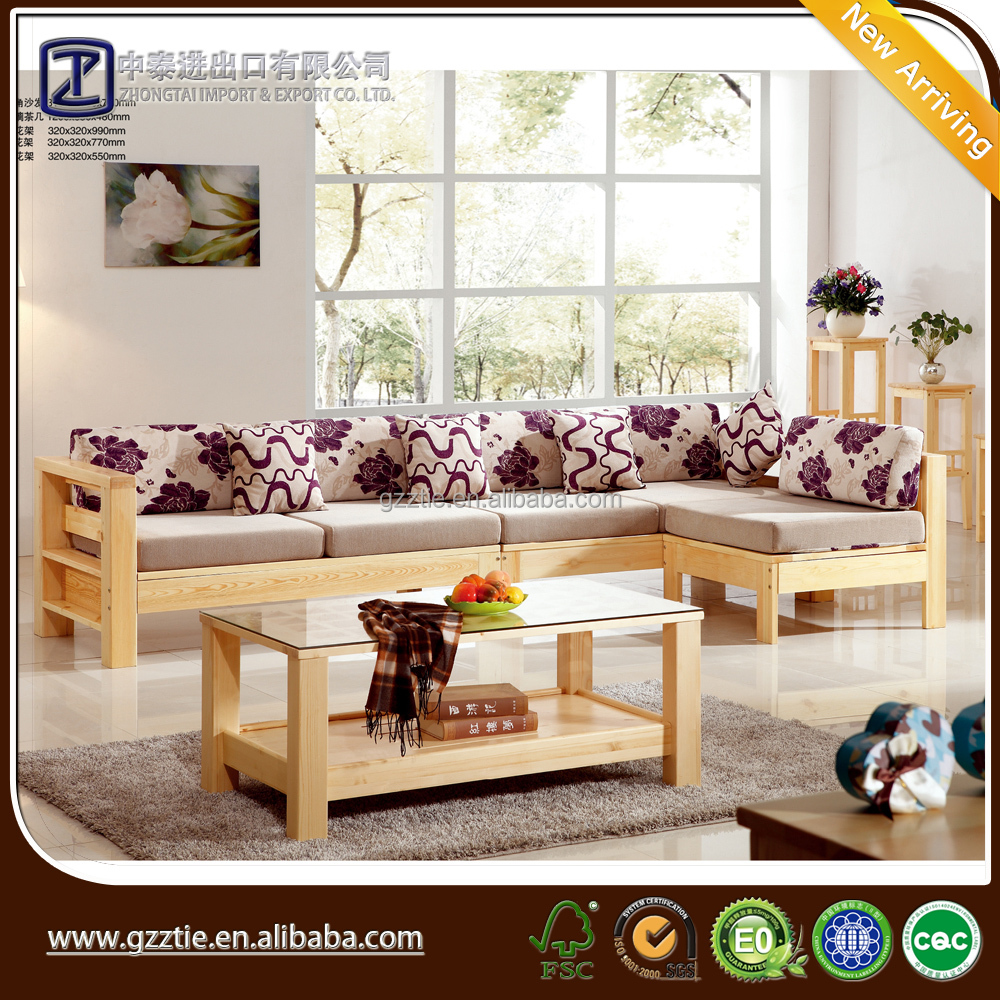 L Shape Sofa Sets With Fabric Cover For Living Room