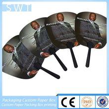 portrait print plastic or PP chopsticks handheld fan