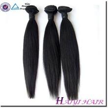 large stock! natural color unprocessed brazilian virgin hair fix hair