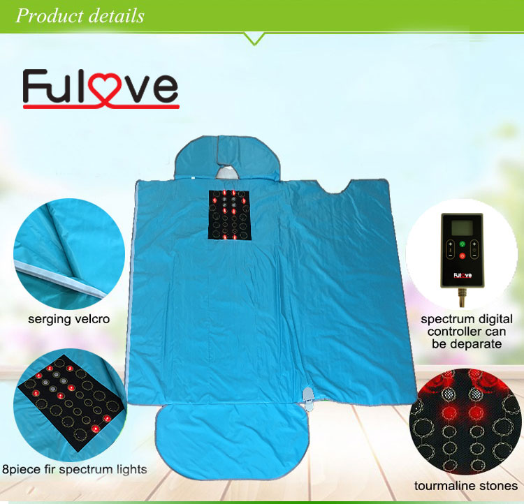 Home portable benefits weight loss body wrap heat therapy slimming treatment far fir infrared sauna blanket