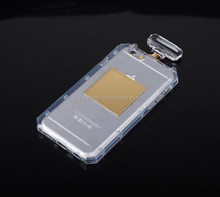 New Arrival Bling Crystal transparent cell phone case clear Perfume Bottle Phone Case for iPhone 6