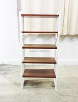 modern design durable metal base wooden shoe rack