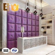Wholesale Eco-friendly Reception Counter Exterior Decorative Soundproof 3D Fabric Wall Panels