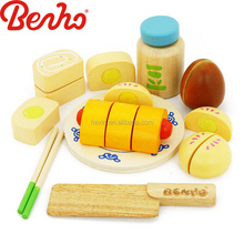 Chinese Food Set Wholesale Wooden Cutting Baby toys