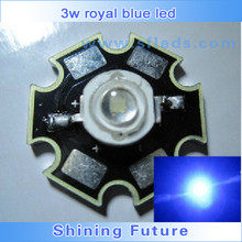LED lighting 3W 450-455nm Royal Blue Plant Grow LED Emitter on Star PCB