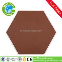 350*350mm hexagonal ceramic terracotta red clay brick floor tile