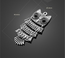 DIY manual shop wholesale restoring ancient ways assembled small owls sweater chain pendant accessories