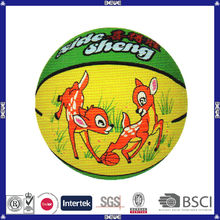 hot sell promotional customized logo colorful rubber basketball