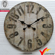shabby chic antique vintage decorative metal wall clock from fuzhou factory