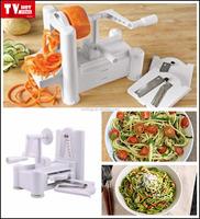 professional factory wholesale spiral vegetable slicer chopper, 2015 hot sale plastic 3 in 1 Vegetable Spiral Slicer