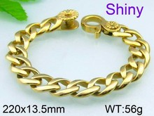 Shiny gold plated fashion jewelry rubber band bracelet maker