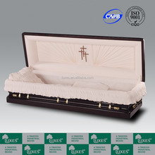 LUXES Special American Style Casket Full Couch Funeral Casket Senator Full Couch