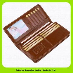 15626 Fashionable simple men brown color vintage handmade leather wallet wholesale