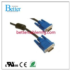 China factory price vga cable 30m m/m with two ferrites