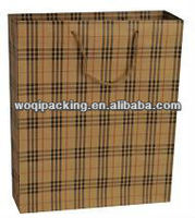 2014 Popular brown kraft paper bag with good design / 150gsm strong paper & perfect printing