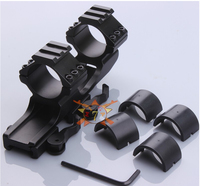 Quick Release 25.4mm /30mm Dual Ring Cantilever Heavy Duty QD Scope Mount Weaver Rail 20mm