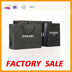 Custom printed fancy promotional laminated paper gift bag with logo print
